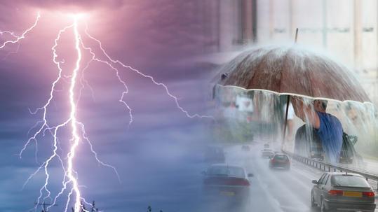 Έκτακτο δελτίο επικίνδυνων καιρικών φαινομένων με ισχυρές βροχές και καταιγίδες