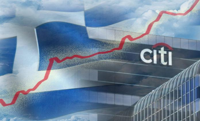 Στο 5,3% (από 4,1% ) τοποθετεί τώρα την ανάπτυξη της ελληνικής οικονομίας η Citigroup