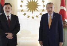 Ο Τούρκος πρόεδροςΡετζέπ Ταγίπ Ερντογάνείχε μιασυνάντηση κεκλεισμένωντωνθυρώνμε τον επικεφαλής τηςλιβυκής κυβέρνησης Σάρατζ