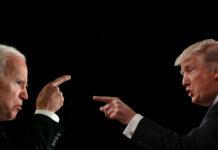 η προεκλογική εκστρατεία του Ντόναλντ Τραμπ και Τζο Μπάιντεν
