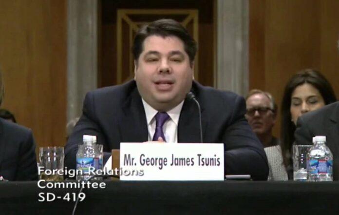 Ο Ελληνοαμερικανός Τζορτζ Τσούνηςπρέσβης των ΗΠΑ στην Αθήνα
