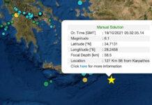σεισμός Κάρπαθος